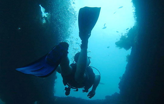 Diving the Liberty Wreck in Tulamben Bali