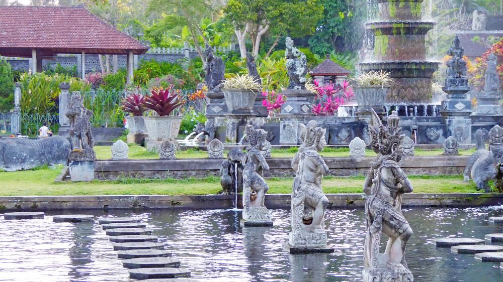 Tirtagangga Water Palace Bali Mahabharata Pond