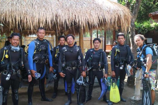 North Bali Reef Conservation dive skills training in Tianyar, Bali, Indonesia