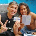 Receiving Open Water Diver Certification Card in Tulamben, Bali